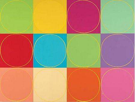 Untitled Circle Painting: 12 multicoloured panels, no.1 - Ian Davenport
