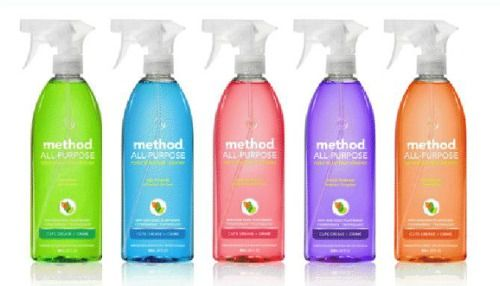 Method cleaners - kitchen, bathroom, every room - smell nice, no nasty chemicals and no animal testing :)