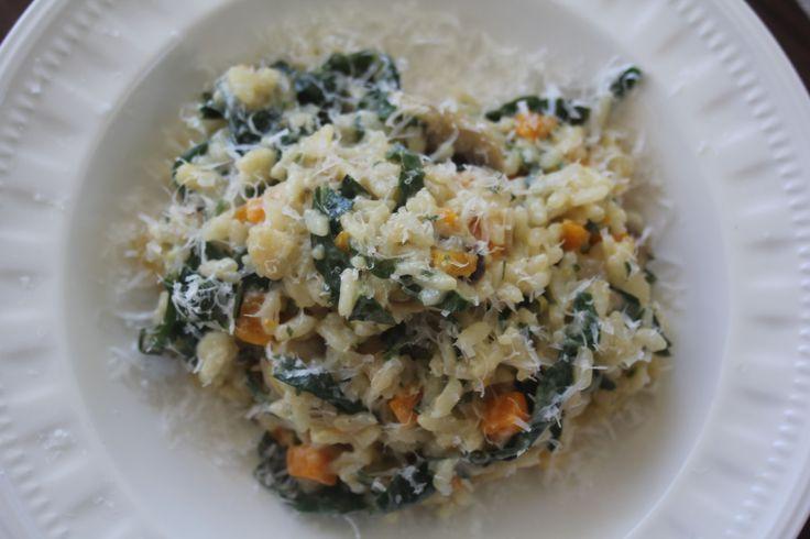 Mushroom, lemon and silverbeet risotto