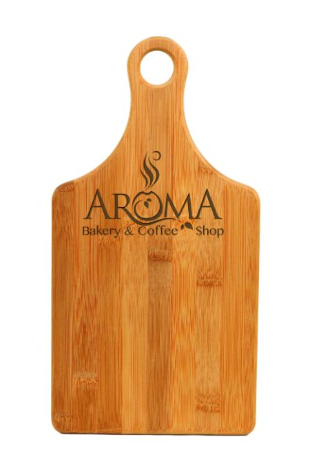 """Bamboo Cutting Board Engraved. Personalized gift for that chef in your life! Size: 13 1/2"""" x 7"""