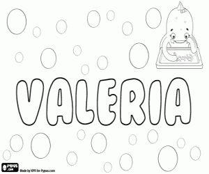 desenho de Valeria, nome de origem latina. Seu significado é corajoso