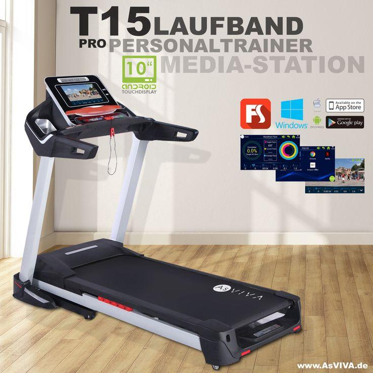 """NEU: Laufband T15 Pro inkl. 10.1"""" Touchscreen inkl. android Fitnesscomputer für die volle Laufband-Kontrolle und absolute Konnektivität via WiFi & Bluetooth. Mit 5 Jahre Garantie & direkt vom Hersteller: www.asviva.de - Das ist Fitness made in germany #laufband #fitness #ausdauer #heimtrainer #hometrainer #workout #treadmill #asviva #fitnessgerät #speed #ausdauertraining #sport"""