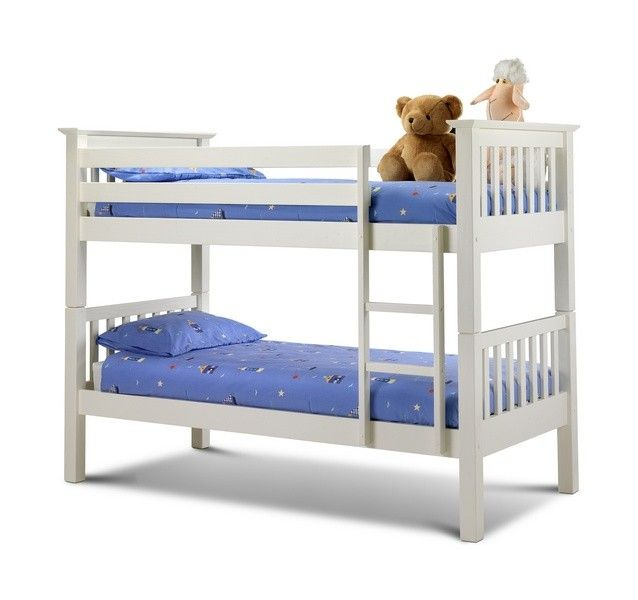 Amazing Barcelona Stone White Finish Solid Pine Wooden Bunk Bed Top Design - Inspirational solid bunk beds Simple Elegant