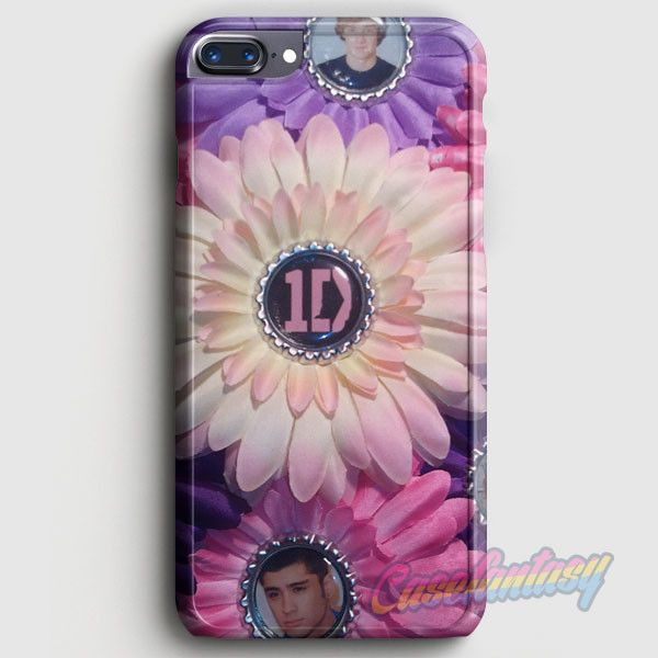 1D One Direction Logo Pink Flower iPhone 7 Plus Case | casefantasy