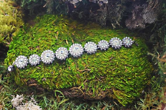 Swarovski Rivoli Woven Bracelet Jessica by RestlessArtMpls on Etsy, $75.00