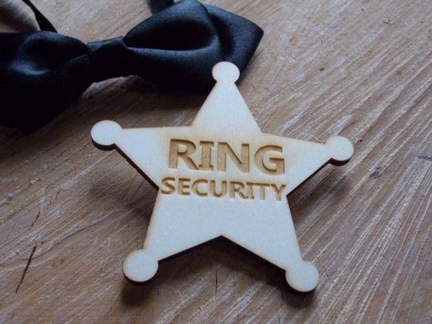 Accessoires - Hochzeitsbutton Ring Security - Hochzeit,Ringe - ein Designerstück von SignCity bei DaWanda