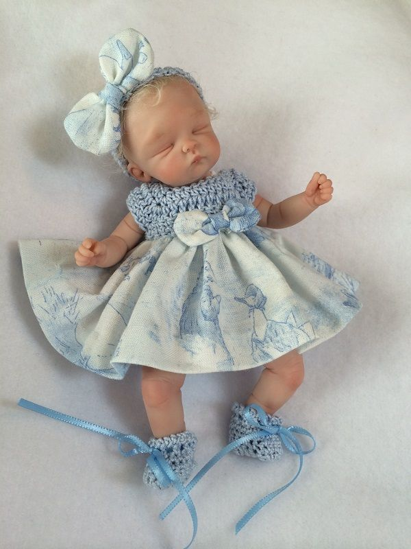 OOAK Hand Sculpted Mini Polymer Clay Baby Girl Miniature | eBay