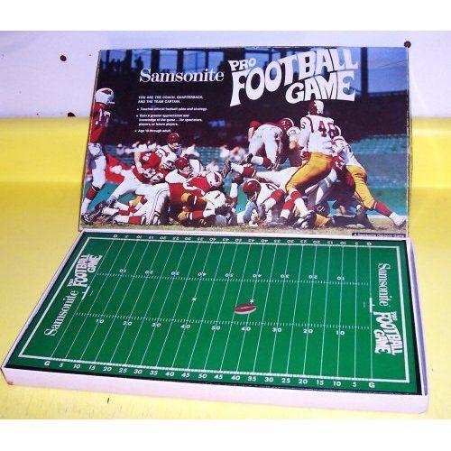 RARE! ORIGINAL VINTAGE 1969 SAMSONITE PRO FOOTBALL GAME