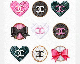 Illustration Coco Chanel | Art Print of Original Watercolor Pa inting Fashion Illustration, Pink ...