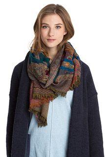 Wollen sjaal met paisley-patroon
