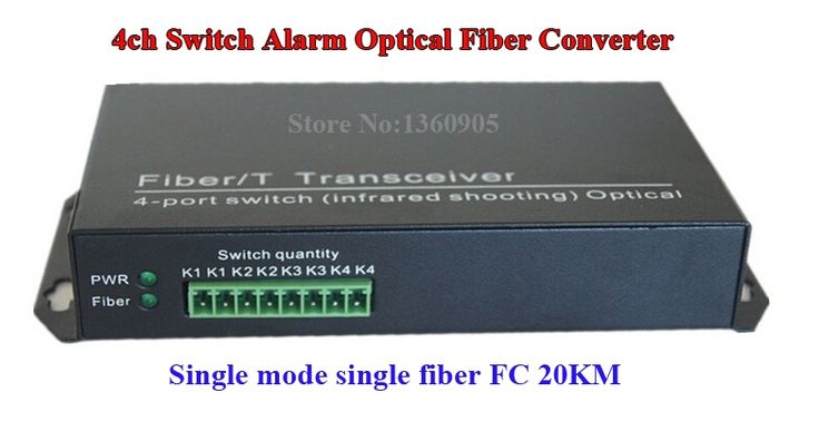 156.5$  Watch more here - 4ch switch Optical Fiber Converter infrared alarm to fiber switching signal FC port fiber optic transceiver   #magazine