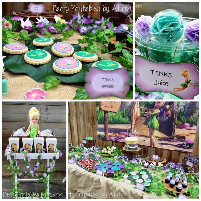 Tinkerbell Party with Lots of Really Cute Ideas via Kara's Party Ideas | KarasPartyIdeas.com #Tinkerbell #Fairy #PartyIdeas #PartySupplies