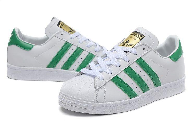 nuevo hombres Deluxe Adidas Superstar 80s DLX Vintage Vintage Blanco/CVerde/Originals Blanco Zapatos B35981
