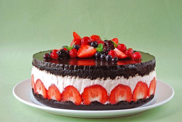 Moha Konyha: Epres csokoládés torta