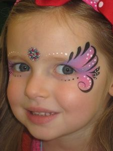 Quick Girl Eye Design Face Painting