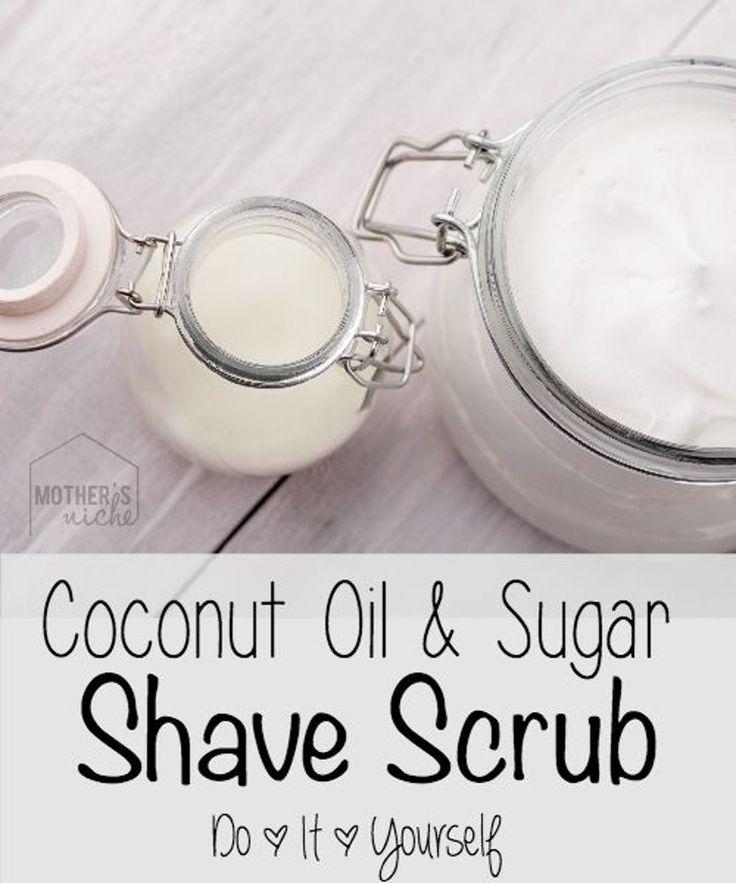 21. #huile de coco & sucre #rasent Scrub - #Bye-Bye hiver peau ! 27 #bricolage sucre #Scrubs à essayer... → #Skincare