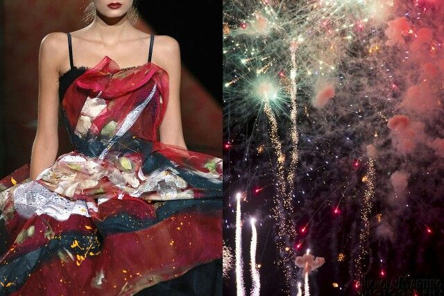 Dresse inspired by fireworks