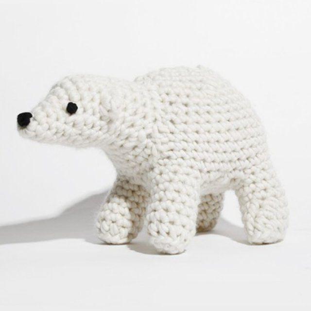 Ours polaire en crochet