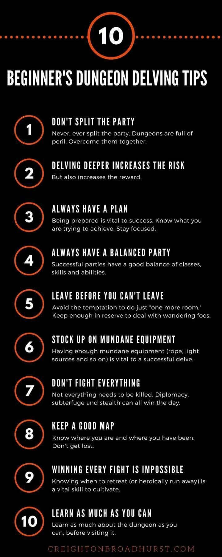 10 Tips for Old-School Dungeoneering