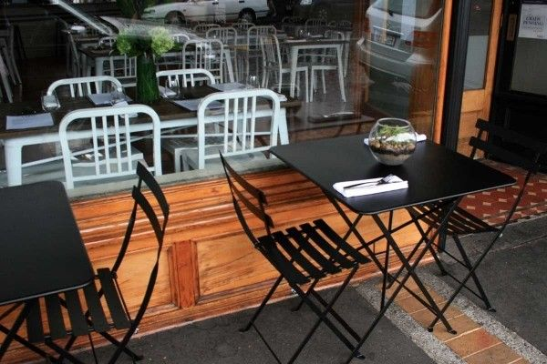 Bistro furniture at Loop Restaurant in Kingsland, Auckland