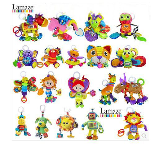styles bright color lamaze toy playugrow stroller rattle toy