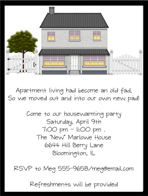 New Home Housewarming Party Invitations Housewarming Open House