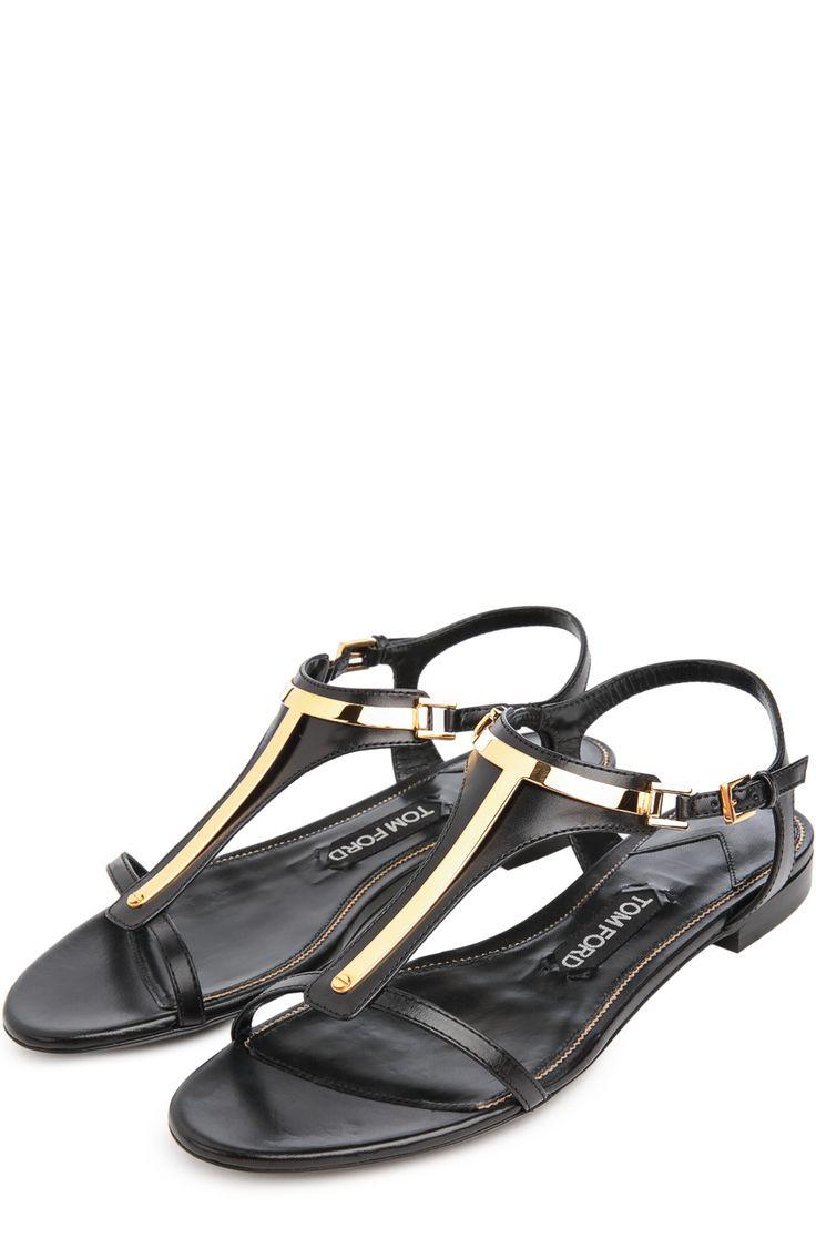 Женские черные сандалии Tom Ford, арт. W1497T/KYW купить в ЦУМ | Фото №2