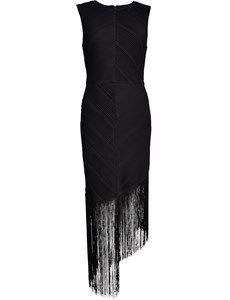 Regina assymetrisk kjole med frynser