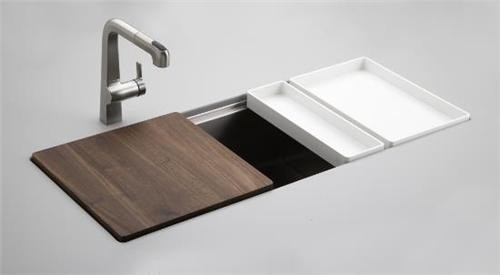 The Offset Drain And Integrated Drainboard Cutting Board