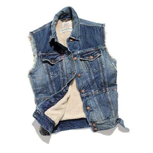 Жилет мужской из старых джинсов