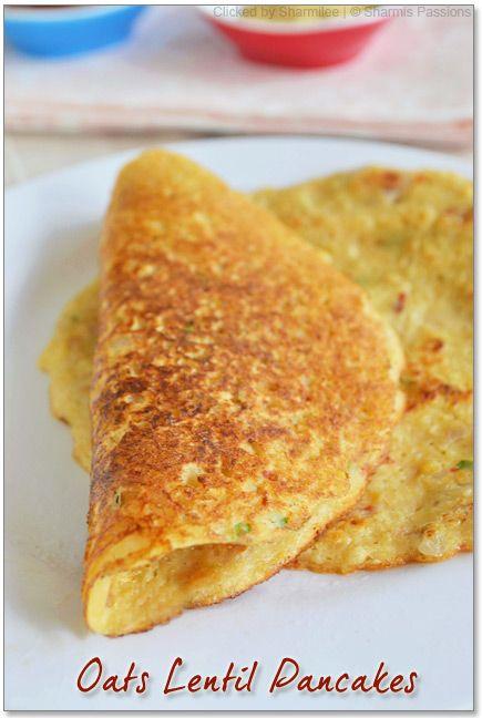 oat lentil pancakes