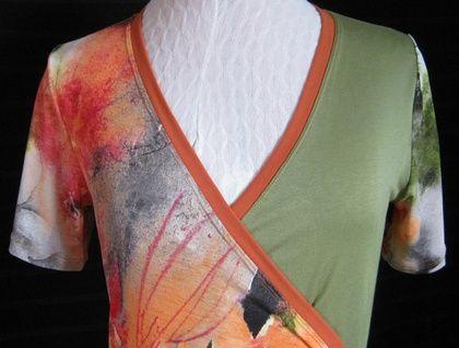 Unique Floral wrap-dress- S /M