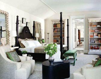 Black white green bedroom inspiring decorating - Green black white bedroom ...