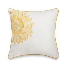 """I like yellow...Sunflower Yellow 20"""" Square Decorative Toss Pillow: Yellow 20, Yellow Sunflowers Yellow, Sunflowers Pillows, Sunflowers Fetish"""