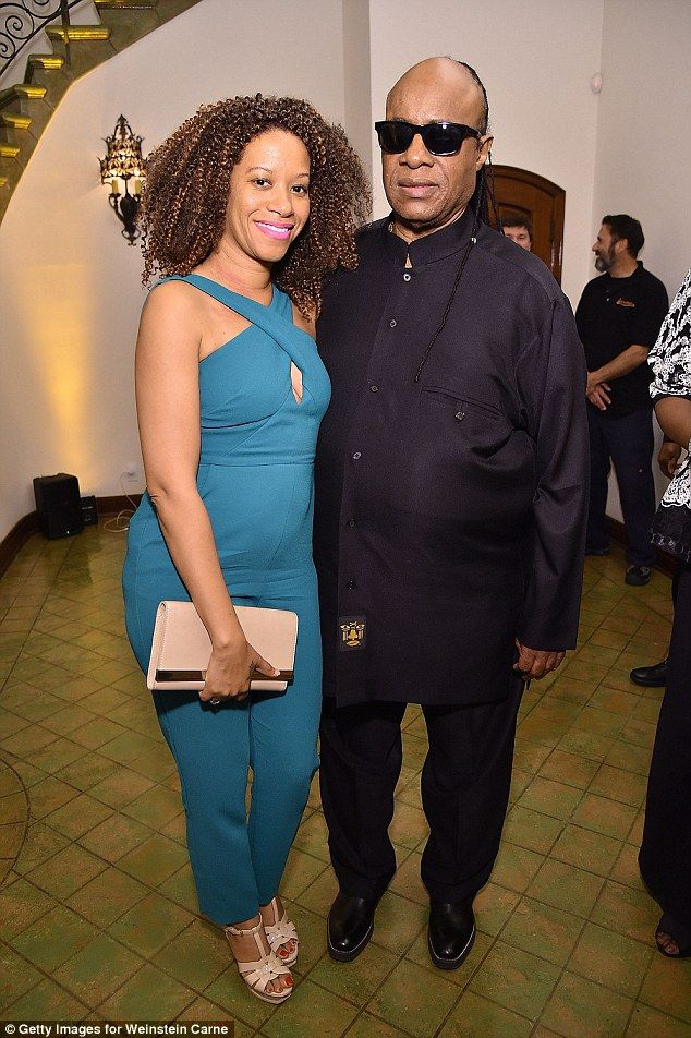 Third time lucky: Stevie Wonder and Tomeeka Bracy, pictured here in 2016, are said to have tied the knot