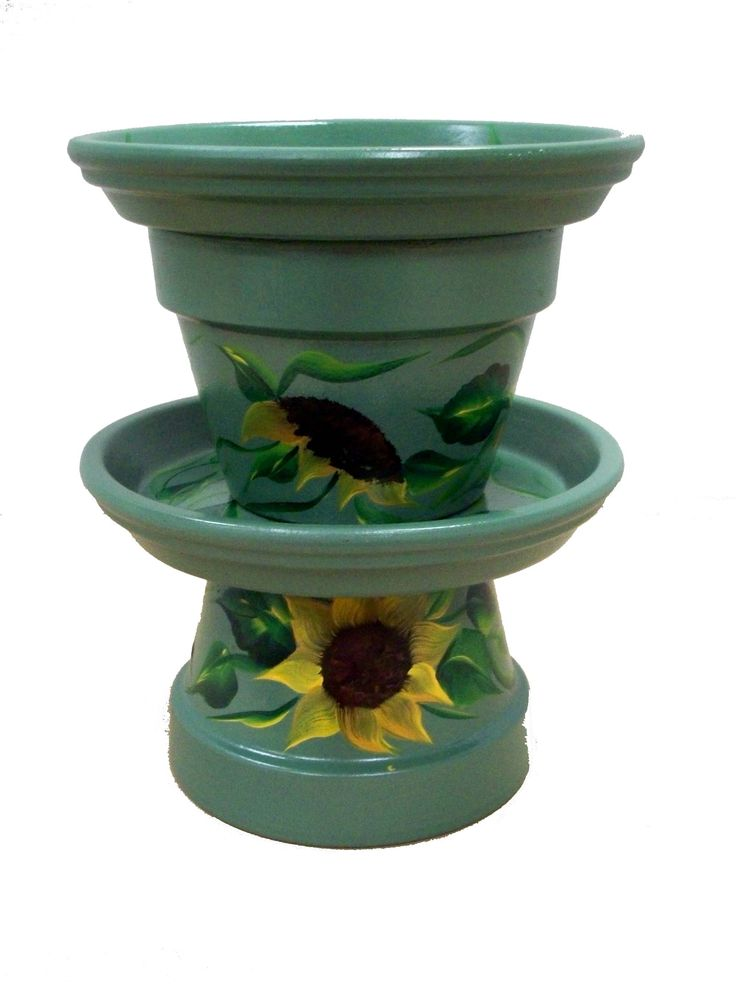 169 best clay pot bird baths feeders images on pinterest painted pots clay pot crafts and. Black Bedroom Furniture Sets. Home Design Ideas
