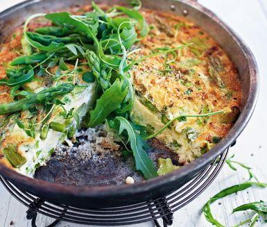 Recept: Grön sparrisfrittata