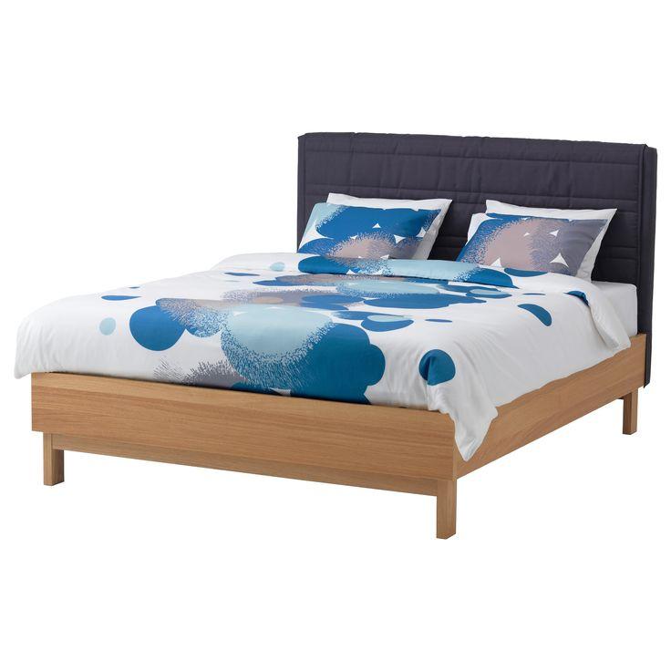 ikea oppland bed frame oak veneer dark gray - Schlafzimmerideen Des Mannes Ikea