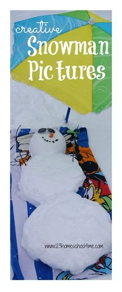 Creative Ways to Build a Snowman with lots of fun pictures! What a fun winter activity for kids!! #snowman #winter