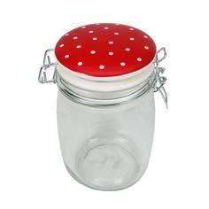 Red Polka Dot 1 Litre Jar