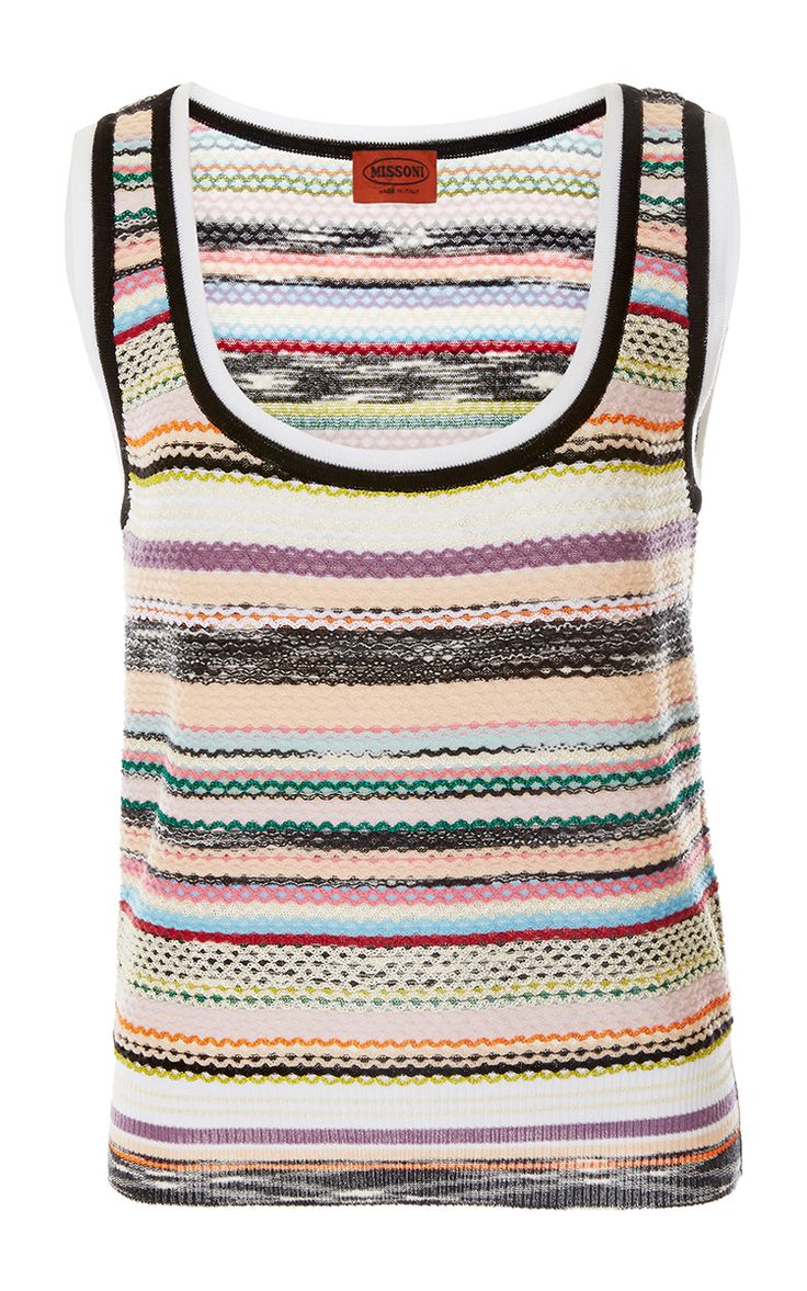 Click Product to Zoom Missoni Striped Scoop Neck Top  €383