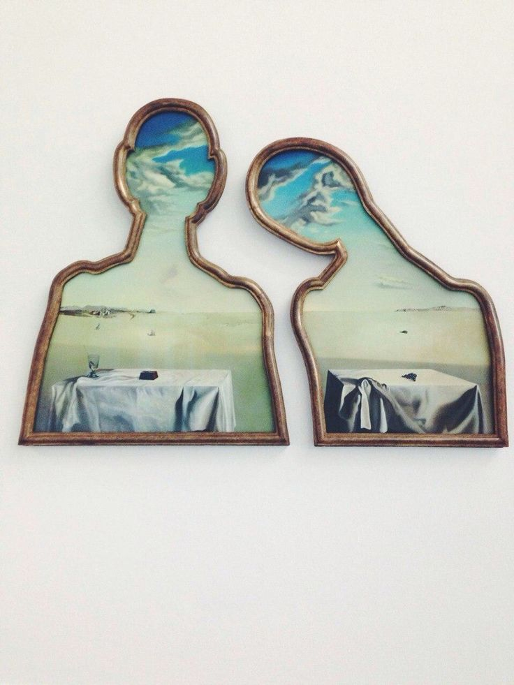 Salvador Dali A Couple with their Heads Full of Clouds  (1936)
