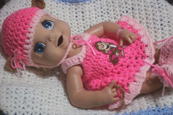 16 Inch Baby Alive Doll Clothes.Monkey  by AdorableAppliques4U, $14.00