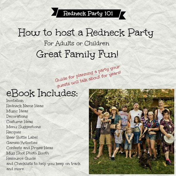 DIY Party Planner 101 Redneck Party How To by BubbleGumInTheMail