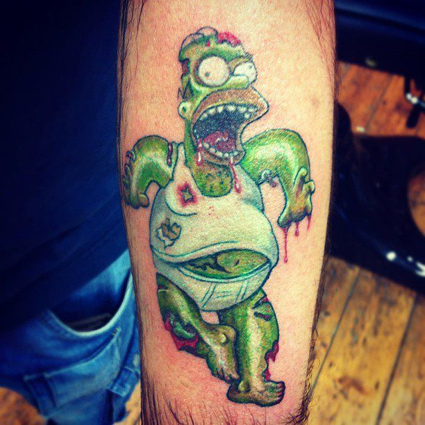 homer zombie tattoo follow me here! https://www.facebook.com/loliinkoholiks?fref=ts