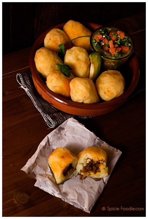 Papas Rellenas Con Chorizo or Chorizo Stuffed Potatoes by Spicie Foodie #glutenfree #southamerica #mexican