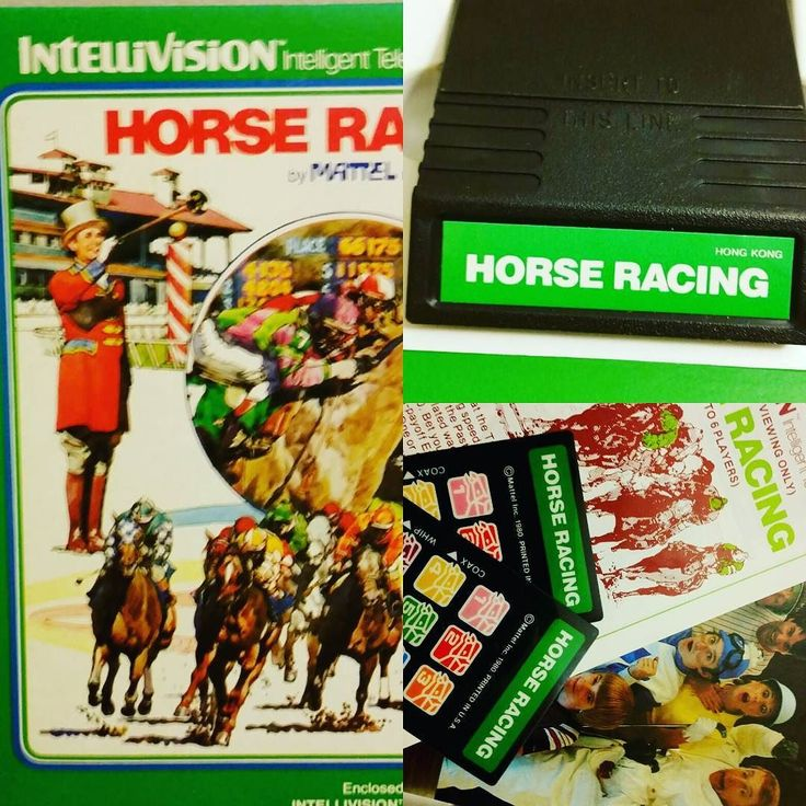 On instagram by chknsndwch #intellivision #microhobbit (o) http://ift.tt/2hAbBnV a long #search I found it. The very #first #video #game I ever played. #Intellivision #horseracing #complete in a fair quality box. Almost cried.