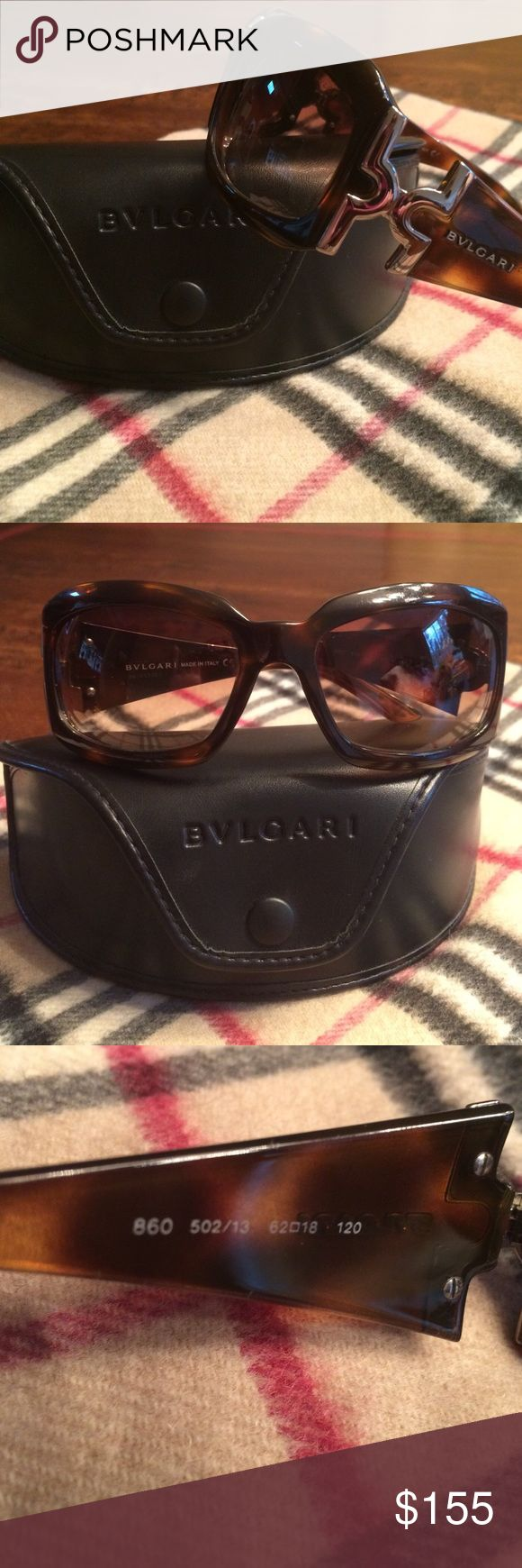 Bvlgari sunglasses 😎 Beautiful, stylish & authentic Bvlgari sunglasses 😎!! Gorgeous brown tortoise color w/ silver tone details.  Made in Italy 🇮🇹 (see code # in pic 3).  Comes w/ Bvlgari case. Bvlgari Accessories Sunglasses