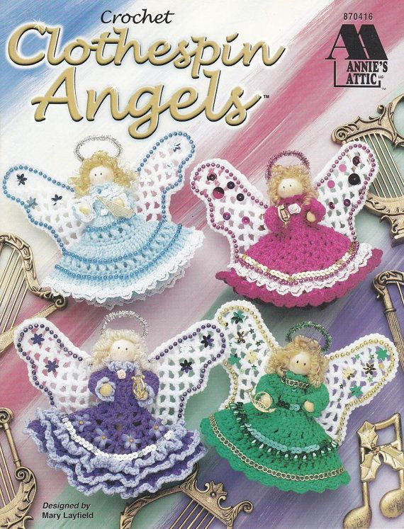 Clothespin Angels Crochet Patterns Christmas Ornaments