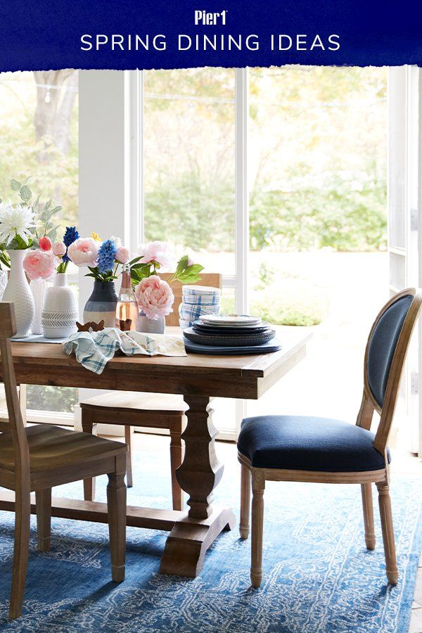 Pier 1 Is Your One Stop Shop For Spring Dining Room Decor Pair Timeless Dining Furniture Like Our Bradding And El Dining Furniture Furniture Dining Room Sets